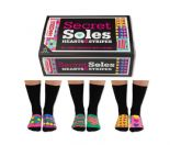 United Oddsocks Secret Soles hearts and stripes 6 odd socks (not pairs)